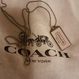 Coach hang tag necklace